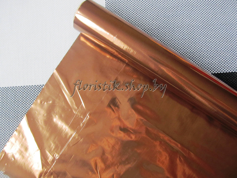 Полисилк метал., ширина 100см., цвет шоколад